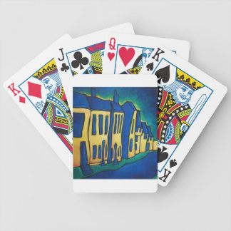 Blue Street Bicycle Playing Cards