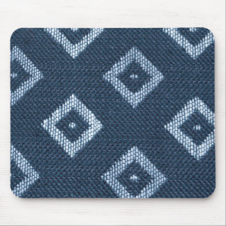 Blue strings with white squares mouse pad