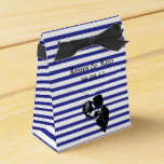 BLUE STRIPE BRIDE & GROOM FAVOUR BOX