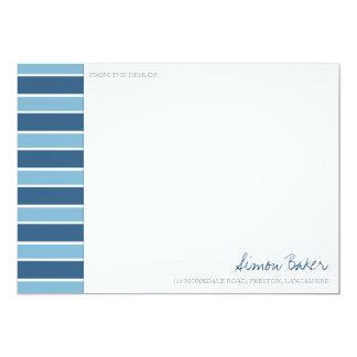 Blue Stripe Correspondence Cards