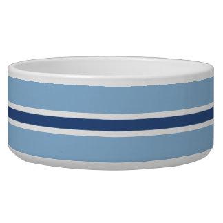 Blue Stripe Large Pet Bowl