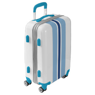 Blue Stripe Luggage Suitcase