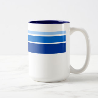 Blue stripe pattern mug
