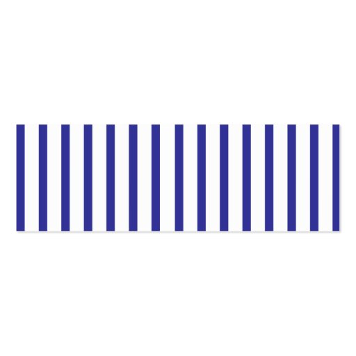 BLUE STRIPE PROFILE CARD Double-Sided MINI BUSINESS CARDS (Pack OF 20)