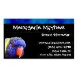 Blue Stripe Rainbow Lorikeet Business Cards