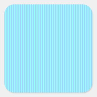Blue Stripe Square Stickers