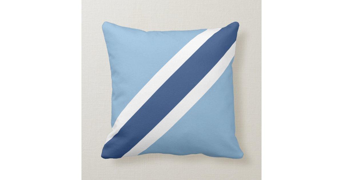 Blue Stripe Throw Pillow Zazzle