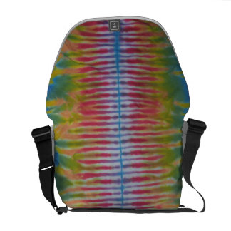 Blue Stripe TieDye Spine Messenger Bag