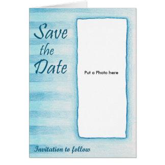 Blue Stripe Wedding Invitation