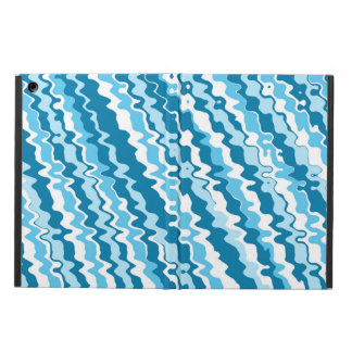 Blue striped abstract pattern ipad case