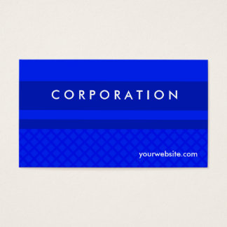 Blue striped and diamond checkered business cards