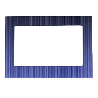 Blue Striped Background Magnetic Picture Frame