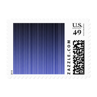 Blue Striped Background Postage