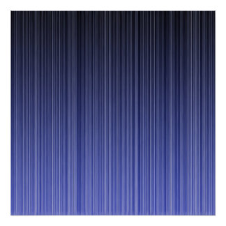 Blue Striped Background Poster