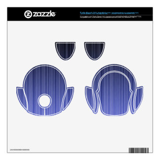 Blue Striped Background Turtle Beach X41 Skins