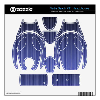 Blue Striped Background Turtle Beach X11 Skins