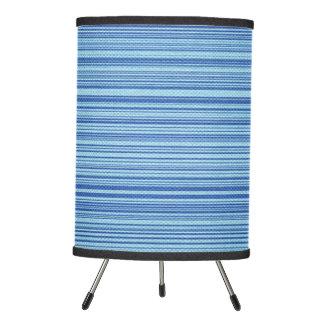 Blue Striped Bamboo Mat Lamp