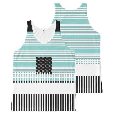Professional Business Blue-Striped--Black-Summer-Fun-Women-Tank-Top All-Over-Print Tank Top