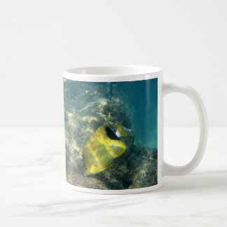 Blue-striped Butterflyfish Classic White Coffee Mug