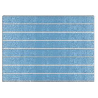Blue Striped Cutting Board