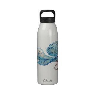 Blue-striped dragonfly drinking bottle