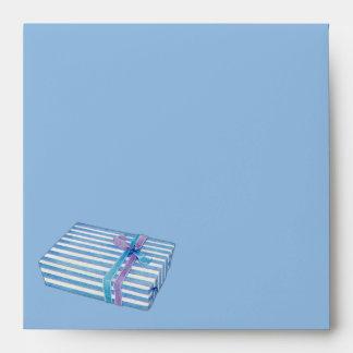Blue Striped Gift blue Invitation Envelopes