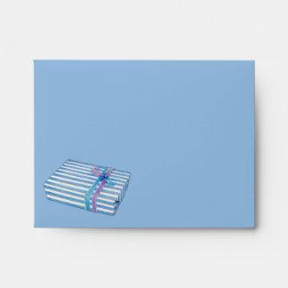 Blue Striped Gift blue Note Card Envelopes