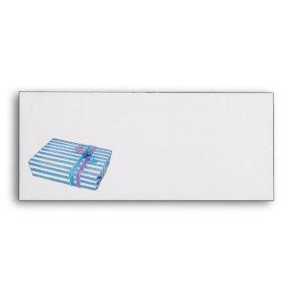 Blue Striped Gift Letterhead Envelopes