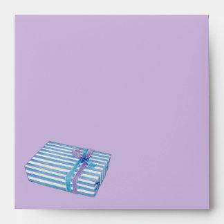 Blue Striped Gift lilac Invitation Envelopes