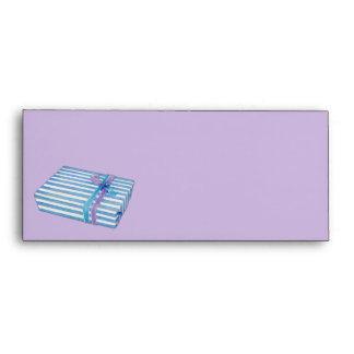 Blue Striped Gift lilac Letterhead Envelopes