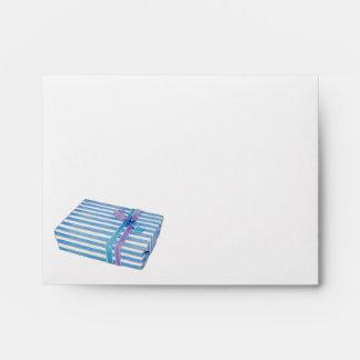 Blue Striped Gift Note Card Envelopes
