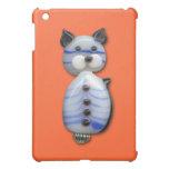Blue-Striped Glass-Bead Cat iPad Mini Case