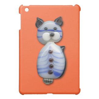 Blue-Striped Glass-Bead Cat Case For The iPad Mini