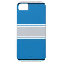 Blue-Striped iPhone 5 Case