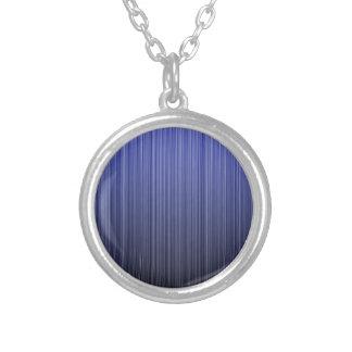 Blue Striped Necklace