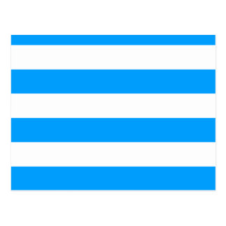 Blue striped postcard
