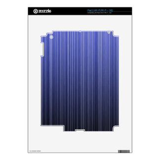 Blue Striped Skin For The iPad 2