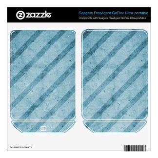 Blue Striped Subtle Grunge Wallpaper Skin For FreeAgent GoFlex