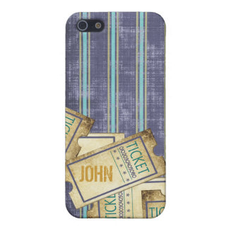 Blue Striped Tickets iPhone Case