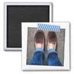 Blue Striped Washi Tape Instagram Magnet