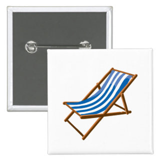 blue striped wooden beach chair png button