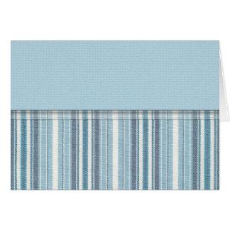Blue Stripes (2) Card
