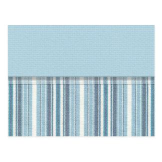 Blue Stripes (2) Postcard