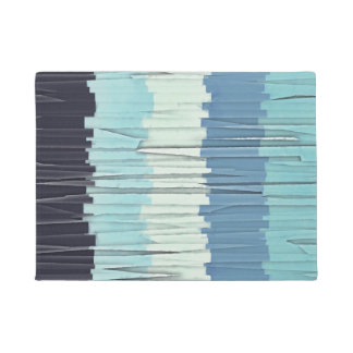 Blue Stripes Abstract Doormat