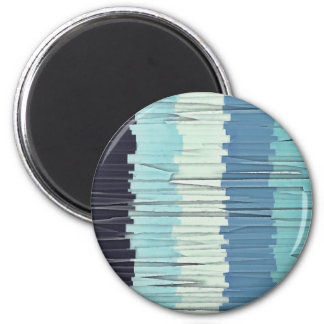 Blue Stripes Abstract Magnet