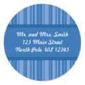 Blue Stripes Address Label - Revised sticker