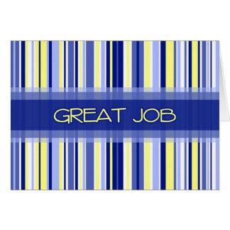 Blue Stripes Administrative Professionals Day Card
