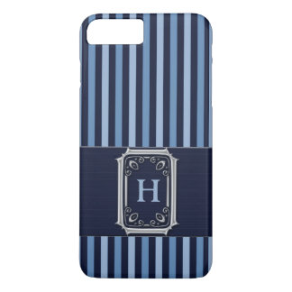 Blue Stripes and Buckle Style Monogram iPhone 8 Plus/7 Plus Case