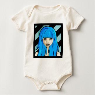 Blue stripes baby bodysuit