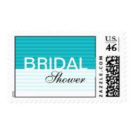 Blue Stripes Bridal Shower Stamps